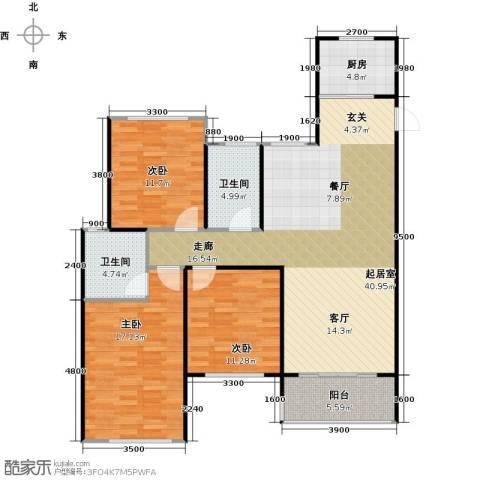 华鼎君临阁3室2厅2卫0厨134.00㎡户型图