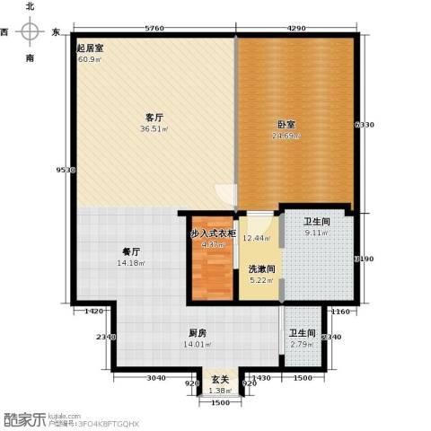 金泉时代(保利金泉广场)114.73㎡户型图