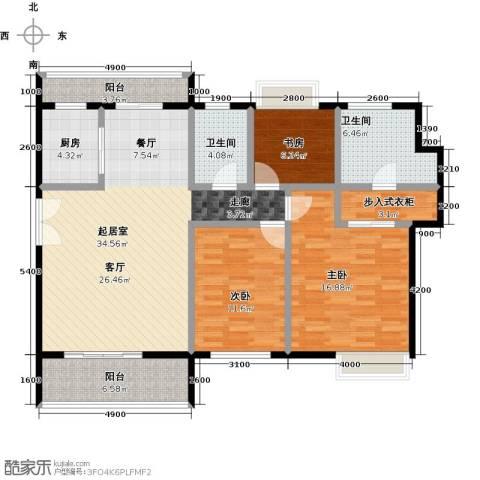 福晟钱隆城3室2厅2卫0厨142.00㎡户型图