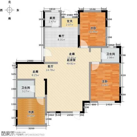 中交上东湾3室2厅0卫0厨129.00㎡户型图