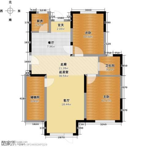 中交上东湾2室2厅1卫0厨103.00㎡户型图