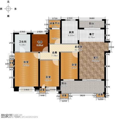 星河国际4室2厅2卫0厨146.00㎡户型图