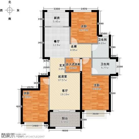 大家之江悦3室2厅2卫0厨135.00㎡户型图