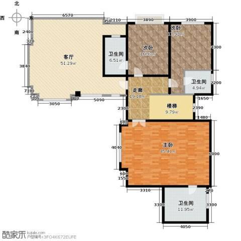 滨海湖3室2厅3卫0厨174.17㎡户型图