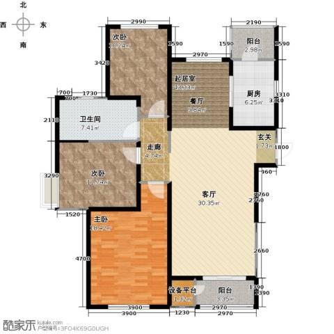 格调艺术领地3室2厅1卫0厨146.00㎡户型图