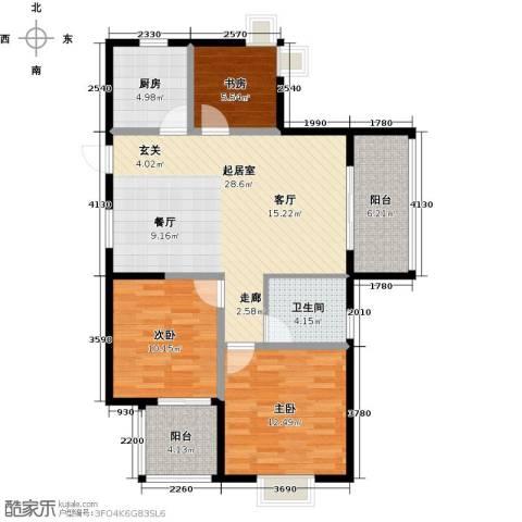 丁桥颐景园3室0厅1卫1厨96.00㎡户型图