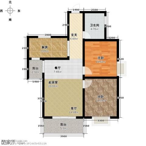 瑞丰新欣城2室2厅1卫0厨86.00㎡户型图
