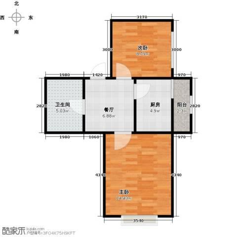 长堤湾2室1厅1卫0厨59.00㎡户型图