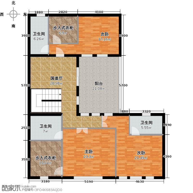 曲江公馆和园147.51㎡别墅二层户型10室