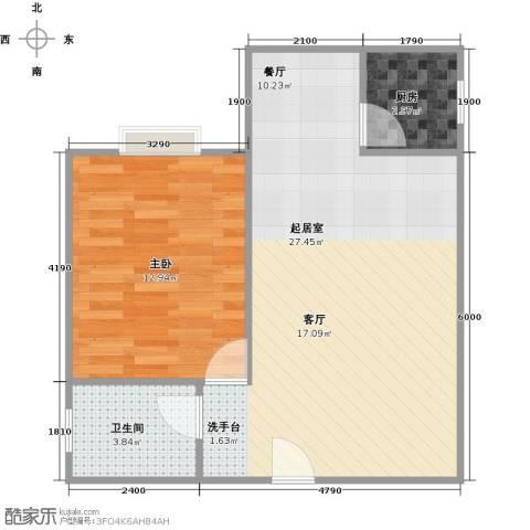 天伦御城龙脉1室2厅1卫0厨58.00㎡户型图