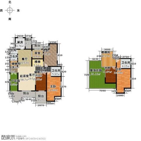 九锦台6室3厅3卫0厨267.00㎡户型图