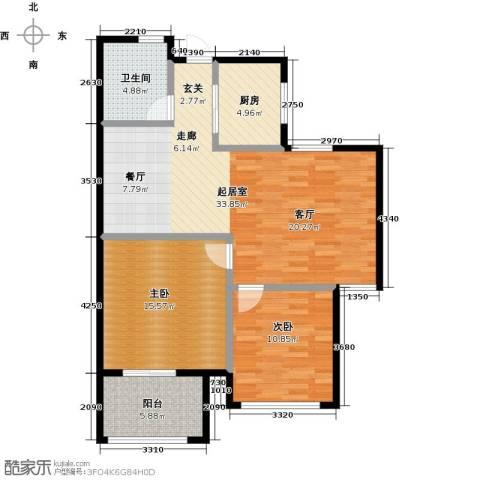 丁桥颐景园2室0厅1卫1厨85.00㎡户型图