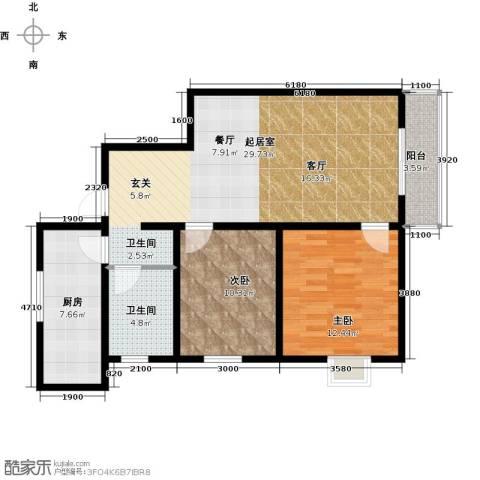 林河春天2室2厅1卫0厨94.00㎡户型图
