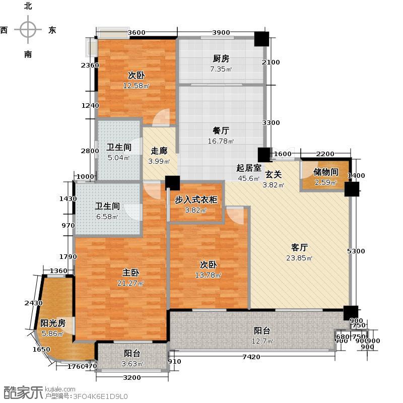 城投瀚城179.00㎡L3户型3室2厅2卫