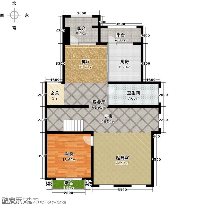 懿品府114.73㎡12号楼3单元303三层户型10室