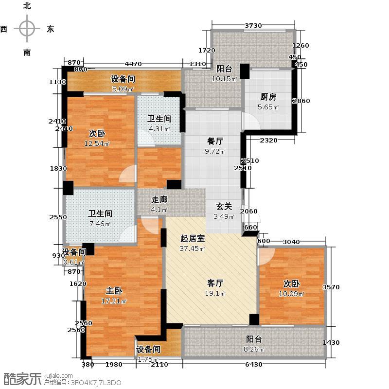亿丰时代广场133.45㎡户型10室