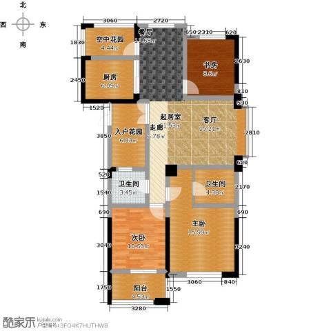 东海金沙T台3室2厅2卫0厨122.00㎡户型图