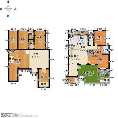 长堤湾3室3厅2卫0厨152.00㎡户型图