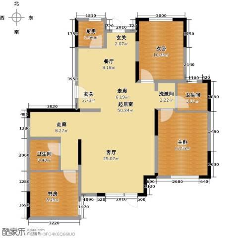 中交上东湾3室2厅2卫0厨129.00㎡户型图