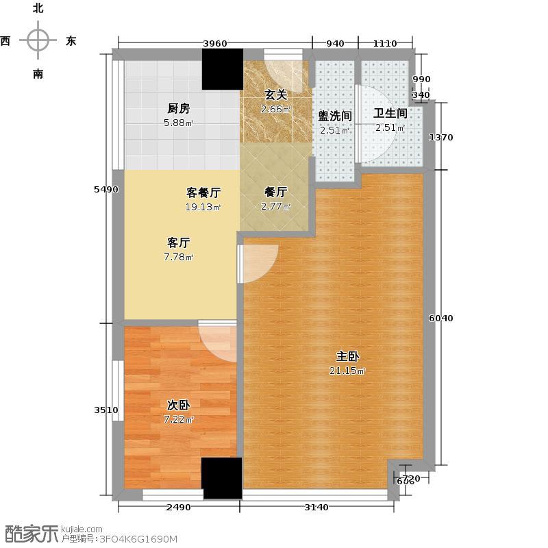 同人广场75.00㎡N1户型10室