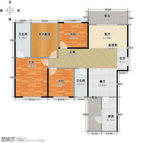 龙湾国际3室2厅2卫0厨154.00㎡户型图