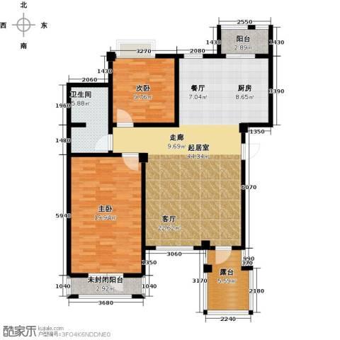 长堤湾2室2厅1卫0厨103.00㎡户型图