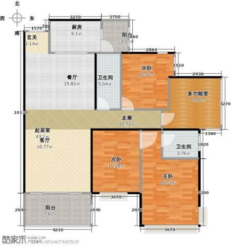 龙湾国际3室2厅2卫0厨158.00㎡户型图