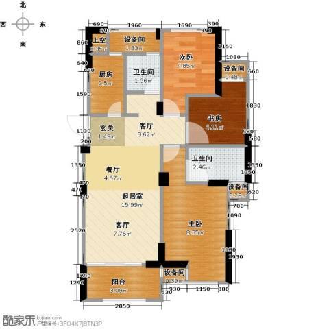 亿丰时代广场66.00㎡户型图