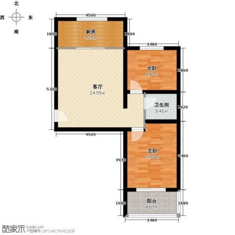 藏龙镇2室2厅1卫0厨70.00㎡户型图