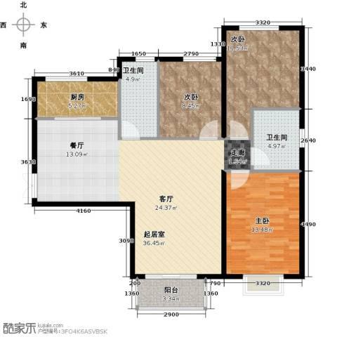 北京城建・世华泊郡4室2厅2卫0厨118.00㎡户型图
