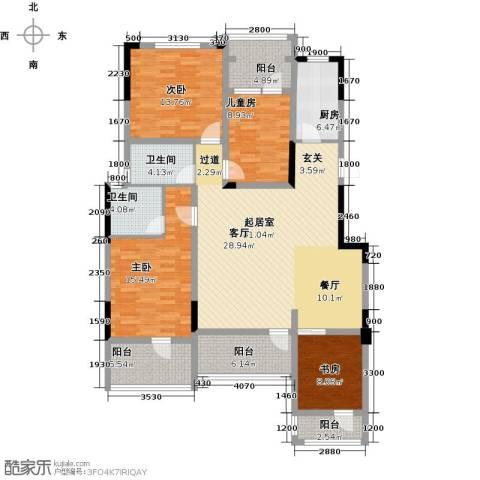 金地滟澜山4室2厅2卫0厨136.00㎡户型图