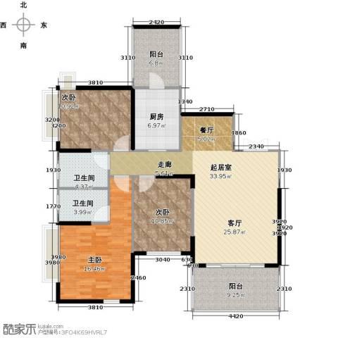 仁和春天国际花园3室2厅2卫0厨125.00㎡户型图