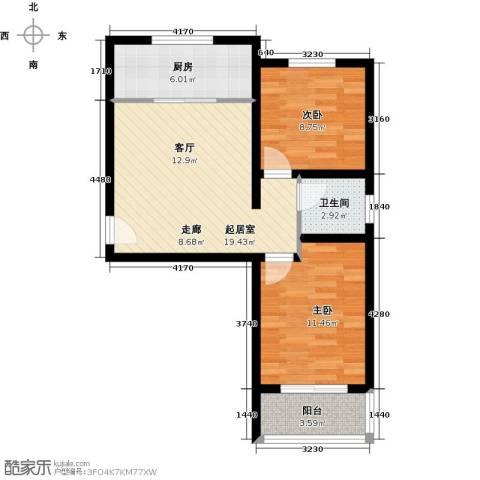 藏龙镇2室1厅1卫0厨60.00㎡户型图