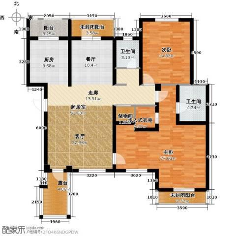 长堤湾3室2厅2卫0厨140.00㎡户型图