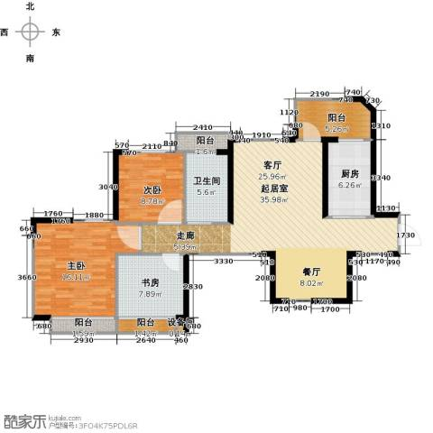 新余恒大城3室2厅1卫0厨91.00㎡户型图