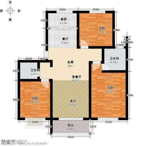 公园里3室2厅2卫0厨123.00㎡户型图