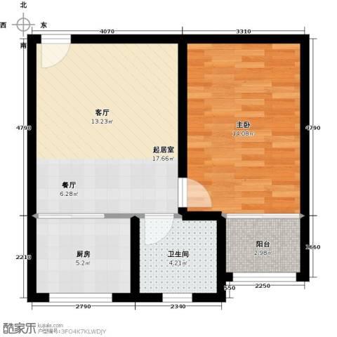 藏龙镇1室1厅1卫0厨50.00㎡户型图
