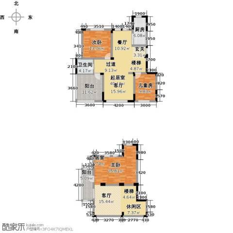 金地滟澜山3室1厅1卫0厨138.44㎡户型图