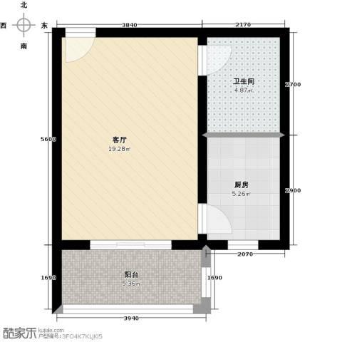 藏龙镇1室1厅1卫0厨40.00㎡户型图