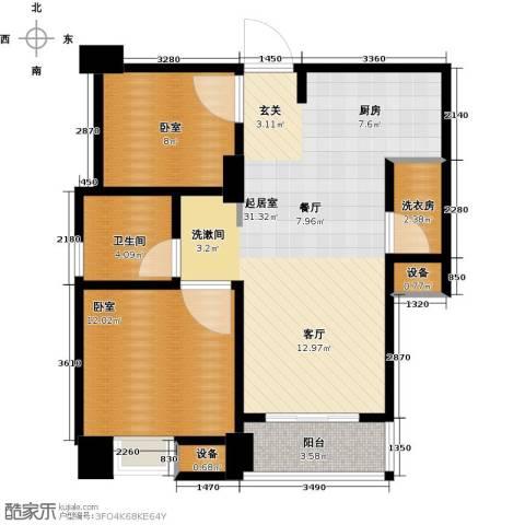 星河国际2室2厅1卫0厨70.00㎡户型图