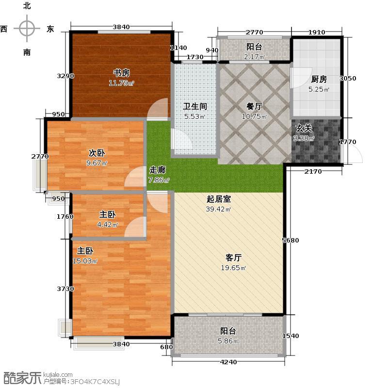 海上嘉年华137.00㎡户型3室2厅2卫