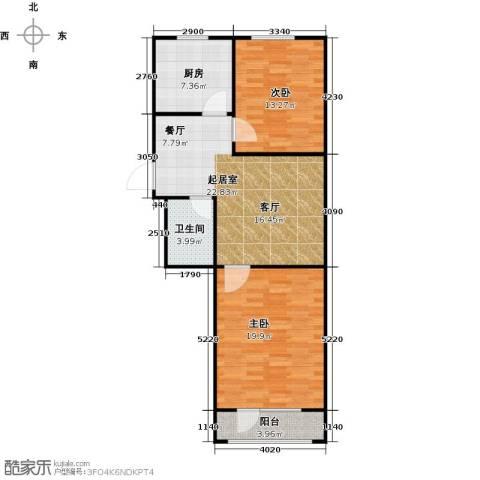 长堤湾2室2厅1卫0厨78.00㎡户型图