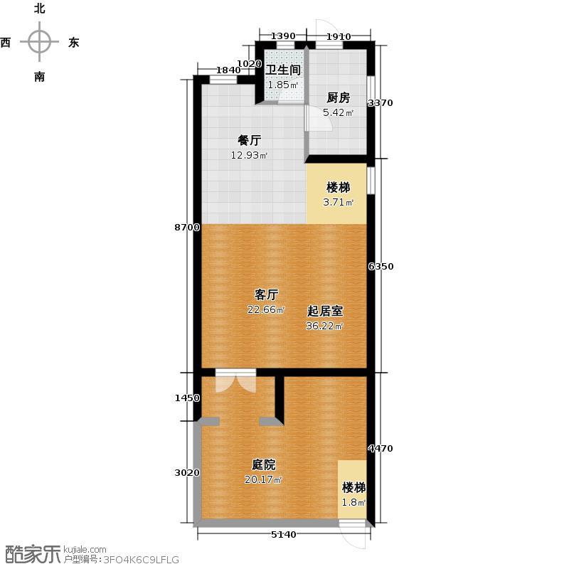 三盛颐景御园138.00㎡35号楼A一层户型3室2厅3卫