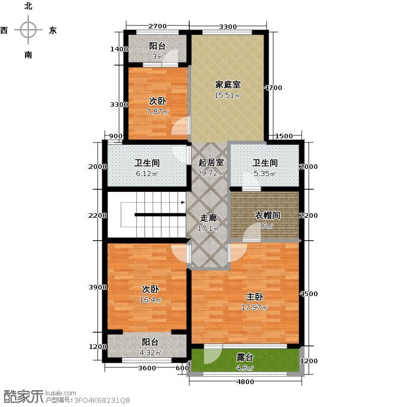 懿品府109.20㎡别墅12号楼3单元二层户型10室