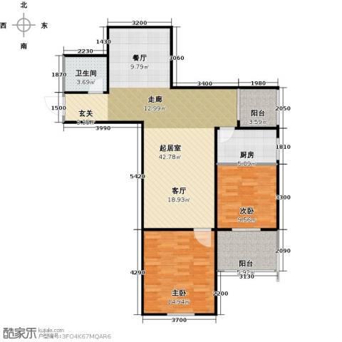 哈佛印象2室2厅1卫0厨112.00㎡户型图