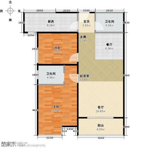 江林公园里2室0厅1卫1厨111.00㎡户型图