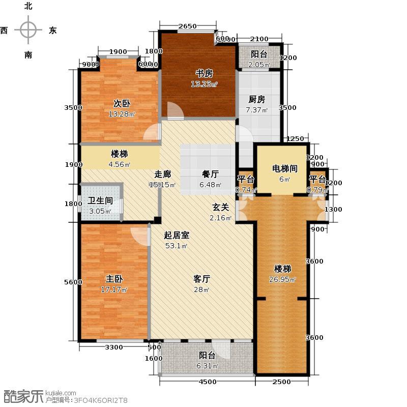 北塔三悦156.95㎡户型10室