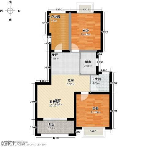 大家之江悦2室2厅1卫0厨89.00㎡户型图