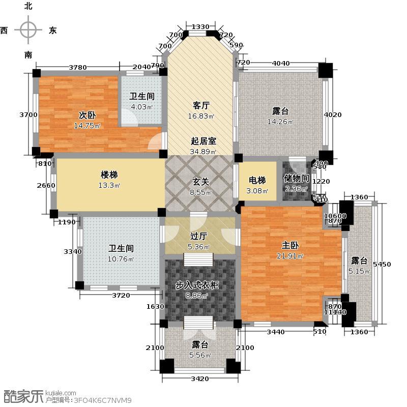 千岛湖墅152.00㎡房型C三层平面图户型10室