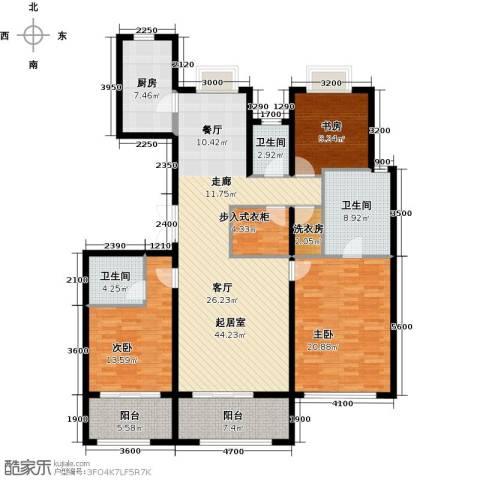 大家之江悦3室2厅3卫0厨165.00㎡户型图